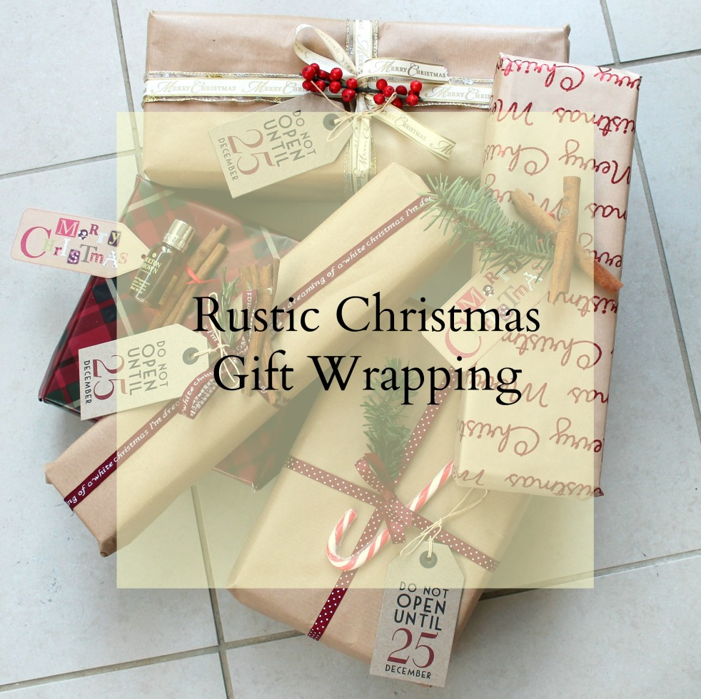 How to wrap gifts presents Christmas cinnamon, candy cane, red, gold,