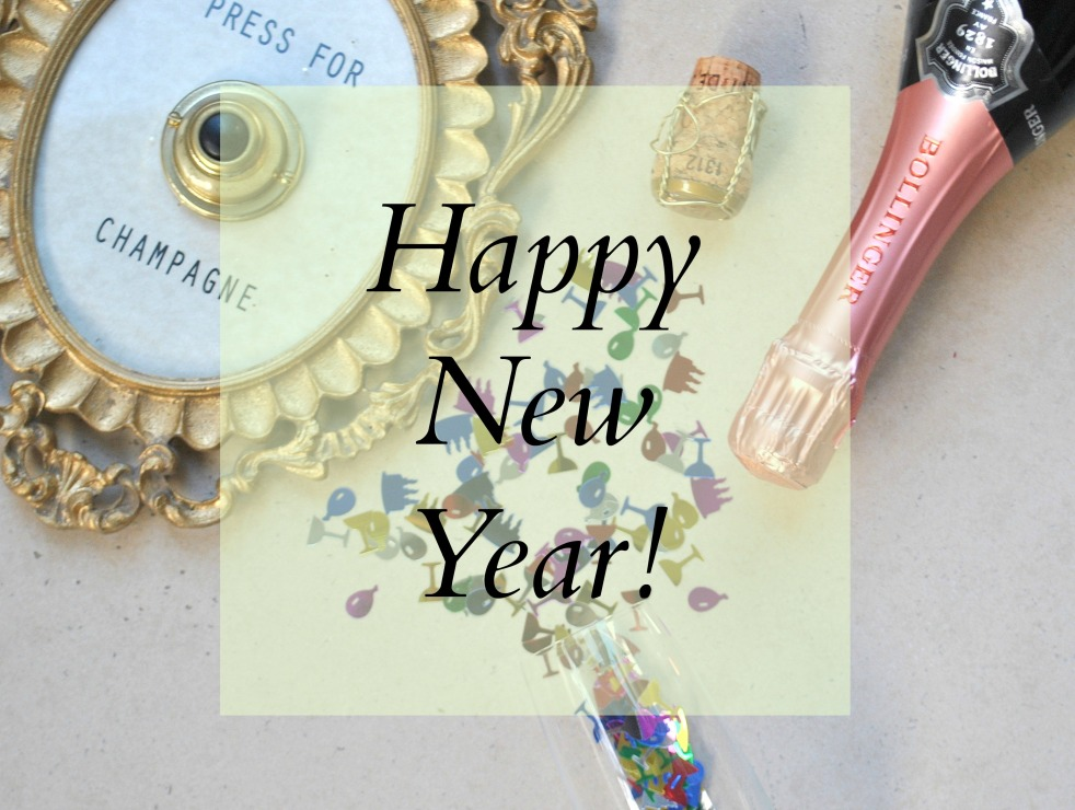 Happy New Year resolution 2016 champagne decorating party celebrate cork confetti