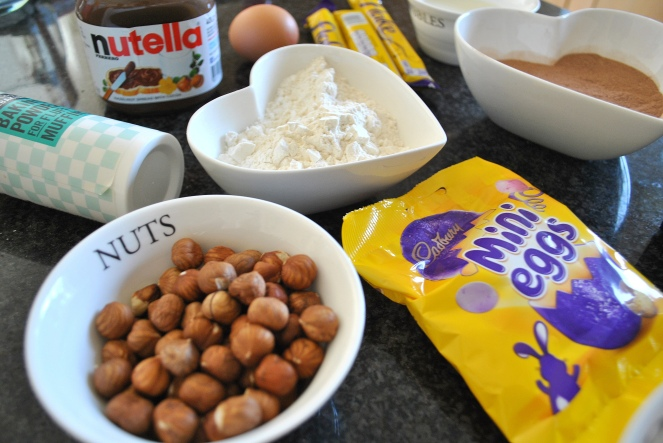 Hazelnut cupcake ingredients