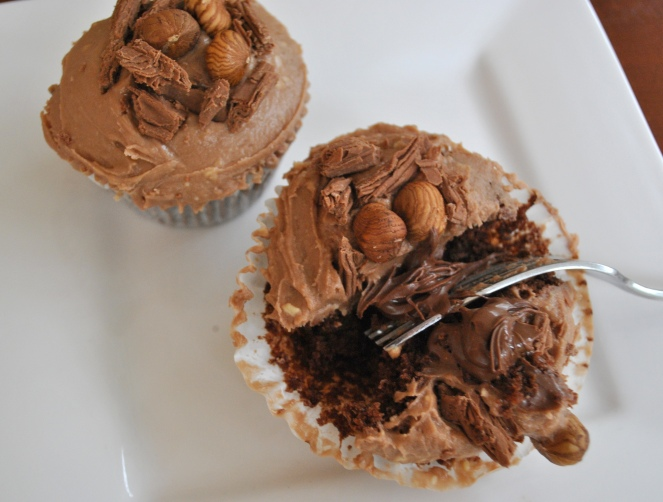 Hazelnut chocolate cupcake