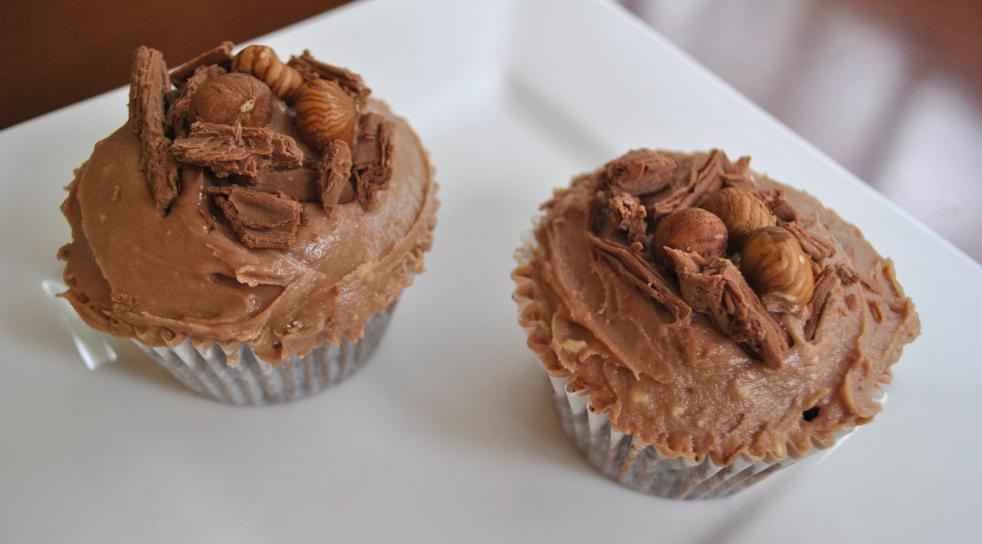 Chocolate Hazelnut Easter Cupcakes