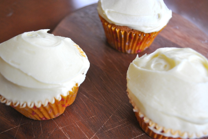 Orange blossom spring cupcakes ingredients