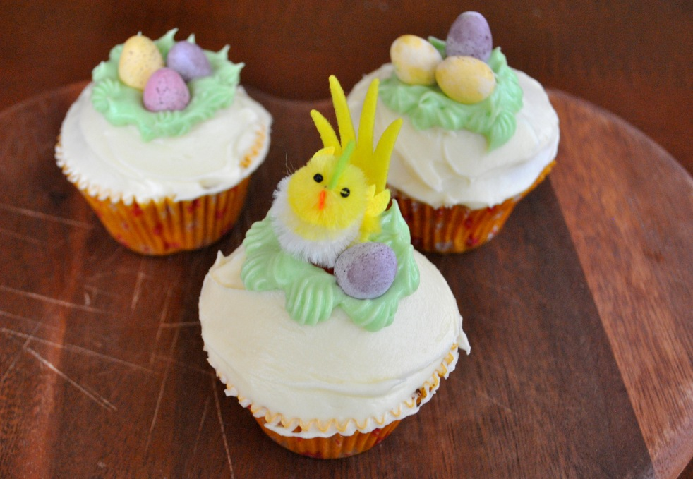 Spring Orange Blossom Cupcakes