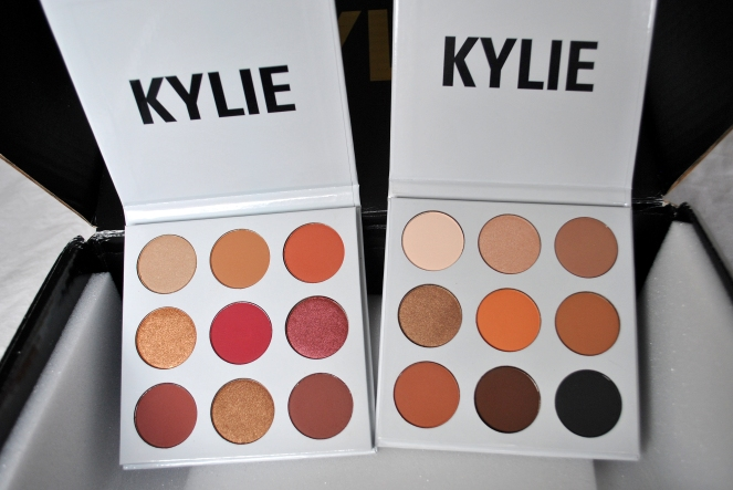 Kylie Eye Palettes Bronze and Burgundy