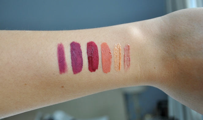 Kylie Cosmetics Valentine's Day swatches