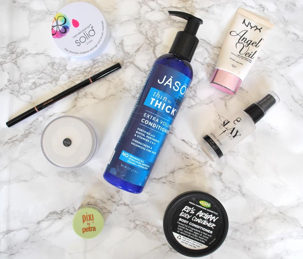 Empty Products: Pixi, Jason, Gerard Cosmetics, NYX, Lush, Natio, Anastasia, Beauty Blender