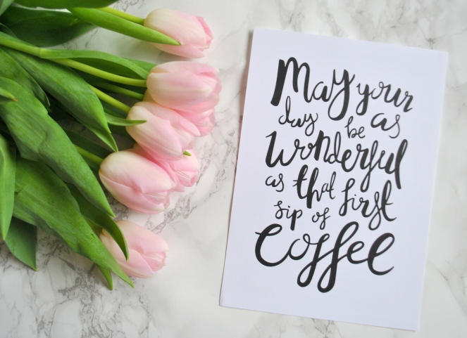 tulips and print