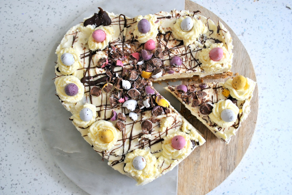 Easter mini egg cheesecake